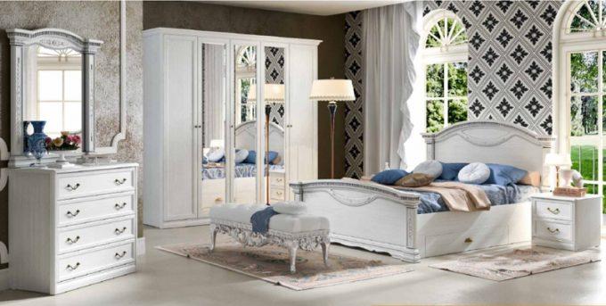 Коллекция мебели для спальни Лючия светлая