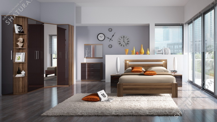 Коллекция мебели для спальни Rimini Choco