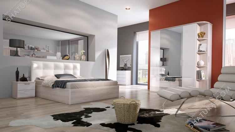 Коллекция мебели для спальни Rimini Ice