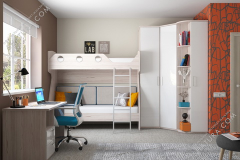 Коллекция мебели для молодежной комнаты Rimini Ice