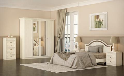 коллекция екатерина, спальня, мебель для спальни, шкаф, кровать, комод, прикроватная тумба