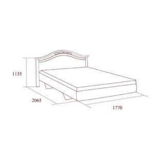 коллекция Екатерина, кровать, кровать 160, кровать 180