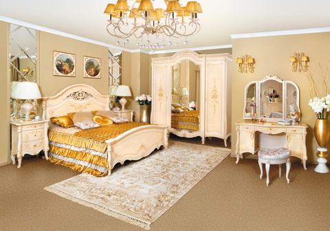 коллекция престиж, спальня, кровать, шкаф, стол туалетный, зеркало, тумба прикроватная