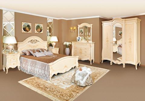 коллекция престиж, спальня, кровать, шкаф, комод, зеркало, тумба прикроватная