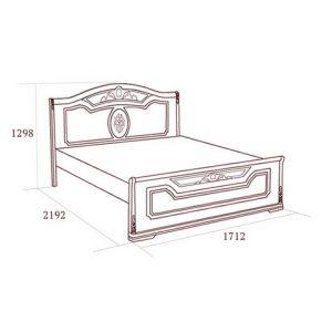 коллекция флориана, кровать флориана, кровать с ножной спинкой
