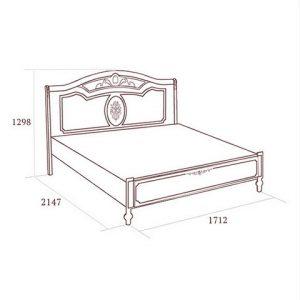 коллекция флориана, кровать, кровать без ножной спинки
