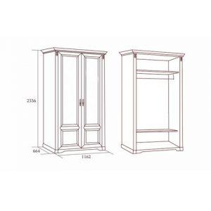 коллекция джоконда, шкаф, шкаф двухдверный, шкаф без зеркал, шкаф для платья и белья