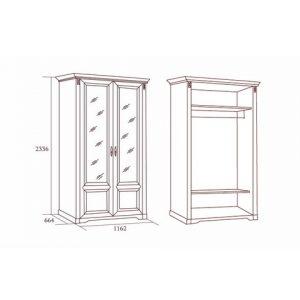 коллекция джоконда, шкаф, шкаф двухдверный, шкаф для платья и белья