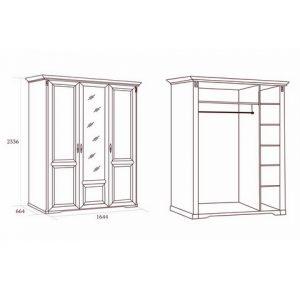 коллекция джоконда, шкаф, шкаф трехдверный, шкаф для платьев и белья