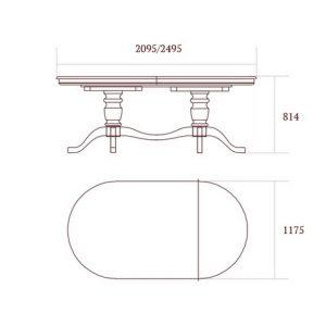 коллекция джоконда, стол овальный, обеденный стол