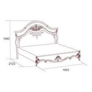коллекция перстиж, кровать, кровать 160, кровать 180, кровать без ножной спинки