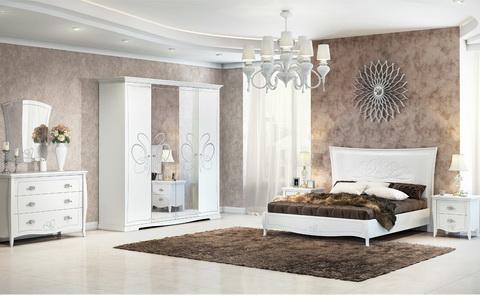 коллекция виола, кровать, комод, шкаф, прикроватная тумба, зеркало, спальня