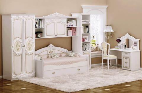 Коллекция мебели для детской (молодежной) комнаты Lady Roza