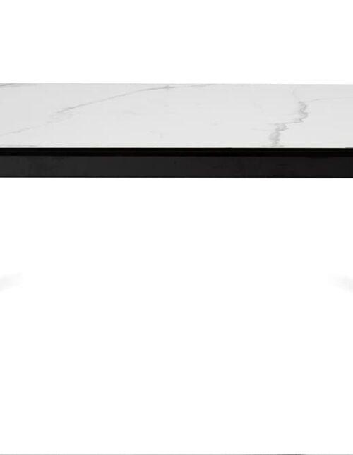 Обеденный стол Nevada 140 Carrara CER BK